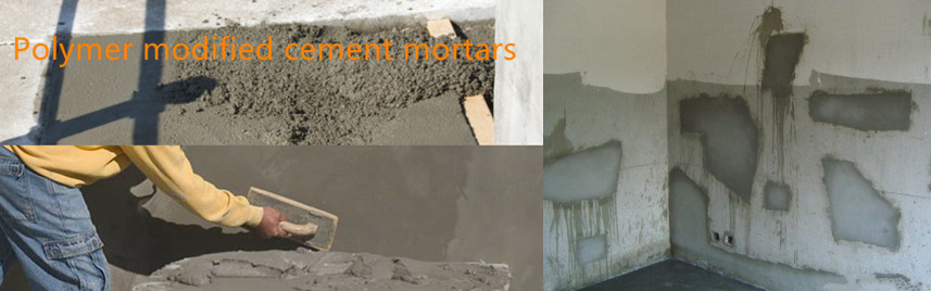 Polymer modified cement mortars